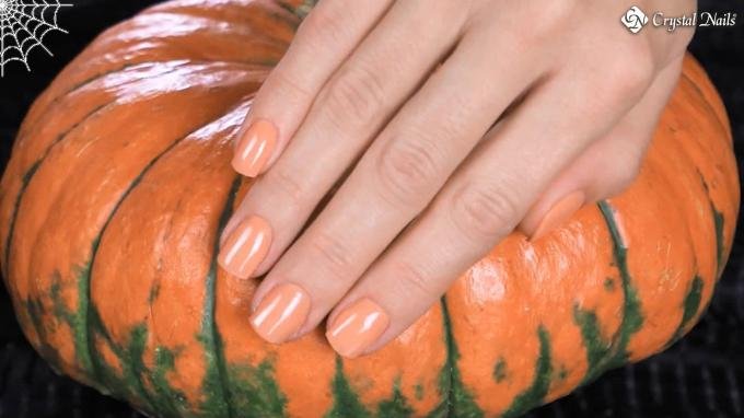 CrystaLac - gel polish design for Halloween
