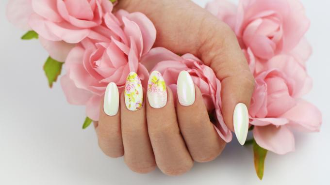 Flower Sticker with Royal Gel Decoration