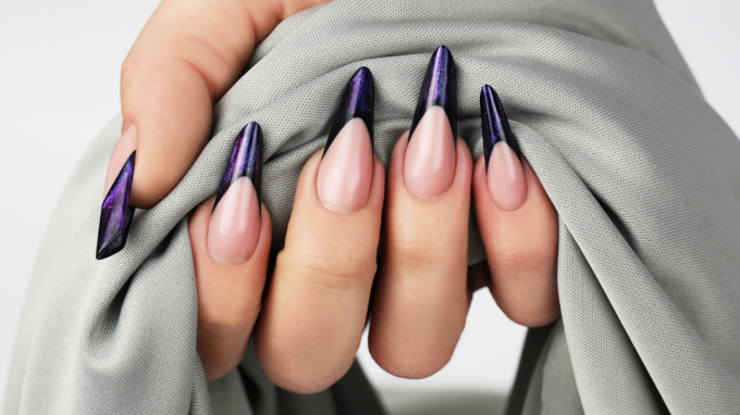 Sculpting Gothic Almond Nails Using Galactic Builder Gel