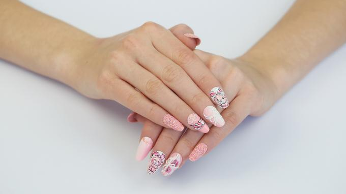 Adorable 3D Bunny Nail Art Design For Easter