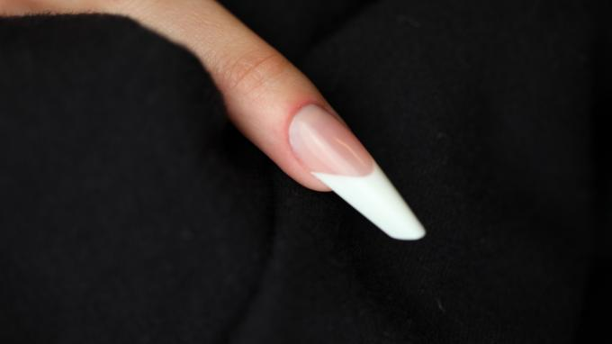 Gothic Almond nail with acrylic