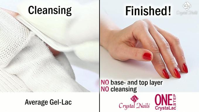 One Step CrystaLac vs. the classic Gel- Polish