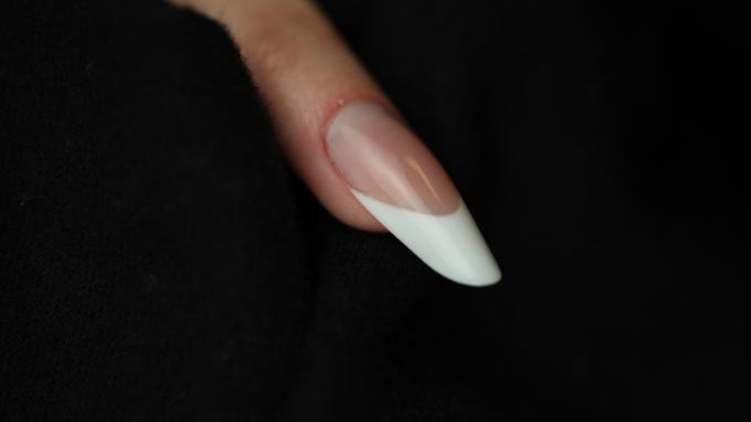 Classic Almond nail with acrylic