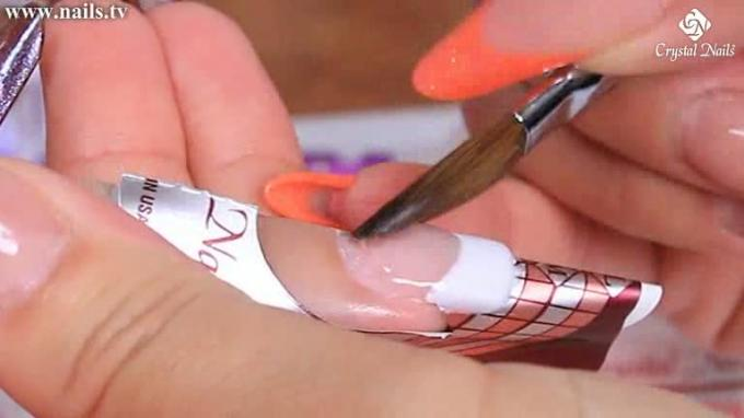 Basic technique - Sculpting acrylic nails
